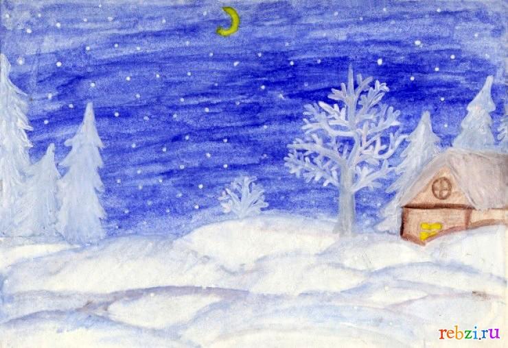 Рисунки на тем зимняя сказка 113