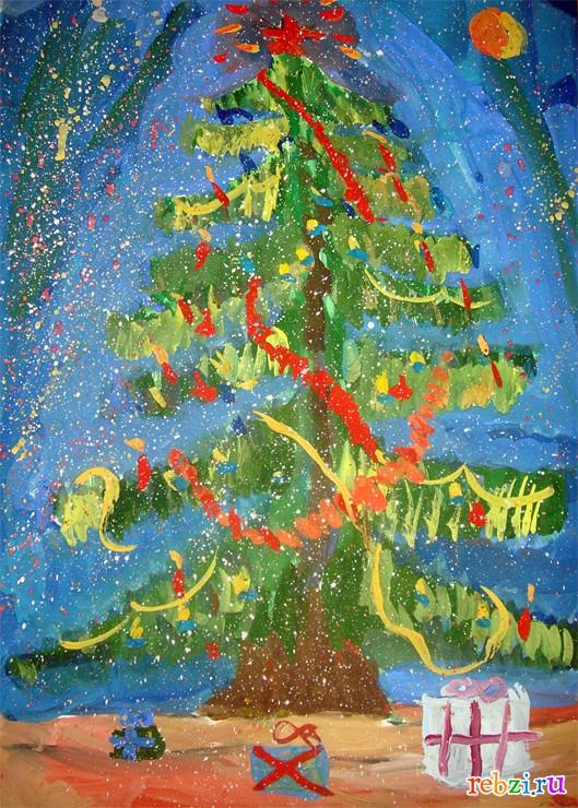 детские картинки елка