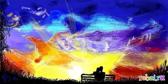 Рисунок о море красками детские