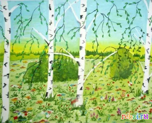 Картинки природы рисунки детей