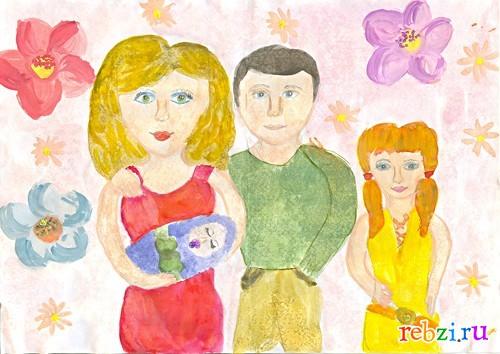 Смотреть рисунки моей семьи